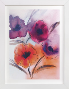 Cheerful Poppies  Art Print