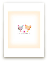 Paired Chickens by hadley hutton