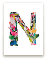 Collage Letter N by Kiana Lee