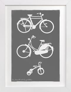 La Famille de Bicyclettes  Art Print