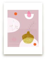 Still Life with Pink Pe... by Francesca Iannaccone