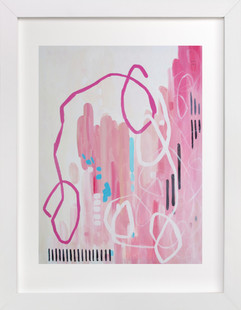 city in pink  Art Print