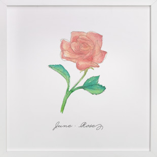 June Rose  Art Print