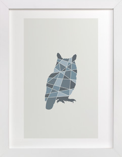 Owl Geometry  Art Print