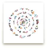 floral mandala no.3 by Kiana Mosley