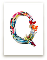 Collage letter Q by Kiana Lee