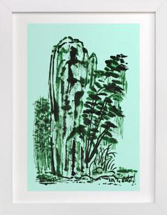 Mint Mountain  Art Print