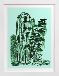 Mint Mountain  Art Print