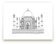 The Taj Mahal in Pen by Sharon Rowan
