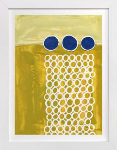 Three Blue Dots  Art Print