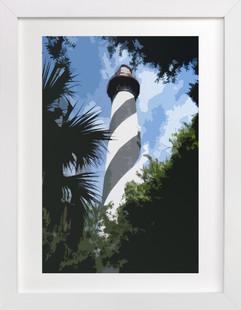 Augustine Lighthouse  Art Print