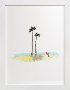 Shade by the Sea  Art Print