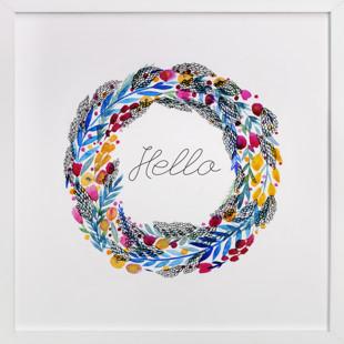 Floral Hello  Art Print