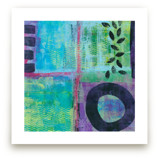 Abstract with Leaves by Laura Bolter Design