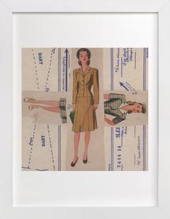 Dress Pattern Dames  Art Print