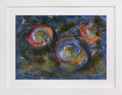 NOIR BLOOMS  Art Print