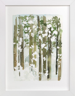 Forest Snow  Art Print