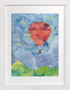 Sunset Balloon  Art Print