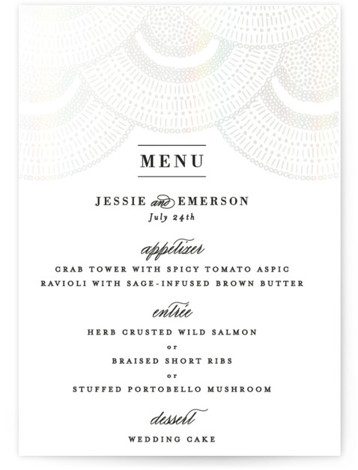 Deco Fringe Gloss Press Menu