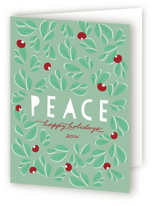 Paper Cut Peace Self-Launch Holiday Cards