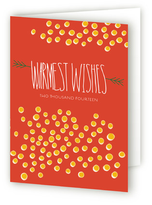 spotty winter Self-Launch Holiday Cards