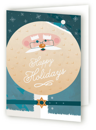 Jewish Santa Self-Launch Holiday Cards