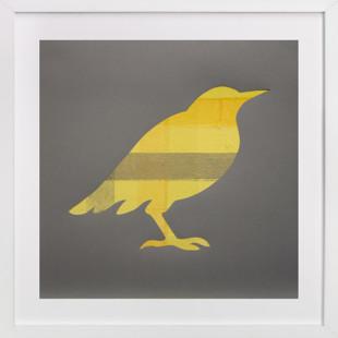 Yellow Bird Self-Launch Children's Art Print