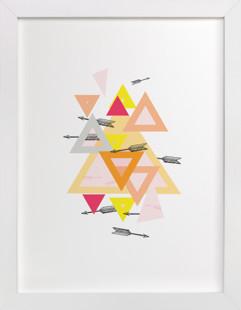 Arrow Geo Self-Launch Children's Art Print