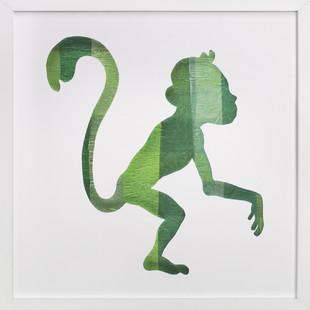 Green Party Monkey Self-Launch Children's Art Print