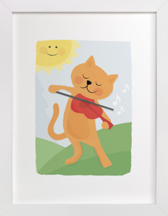 The Cat and the Fiddle Self-Launch Children's Art Print