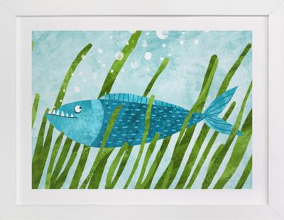 That Blue Fish Self-Launch Children's Art Print