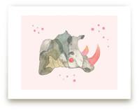 Pink Tusk Rhino by Nikki Rene
