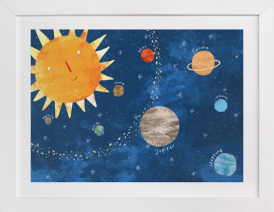 Sun and Planets Self-Launch Children's Art Print
