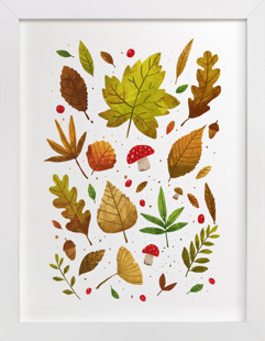 An Autumn Walk in the Park Self-Launch Children's Art Print