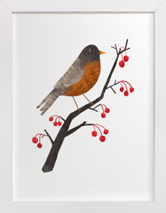American Robin Self-Launch Children's Art Print