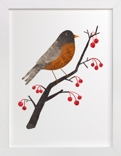 American Robin Self-Launch Children's Art Print