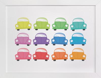 Rainbow Bugs Self-Launch Children's Art Print
