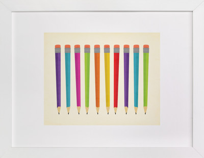 Mad About Pencils Self-Launch Children's Art Print