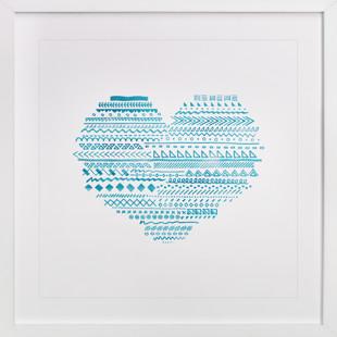 Doodle Heart Self-Launch Children's Art Print