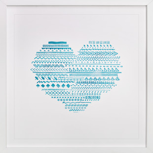 Doodle Heart Self-Launch Children's Art Print