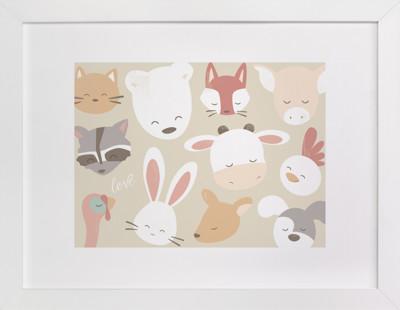 love animals Self-Launch Children's Art Print
