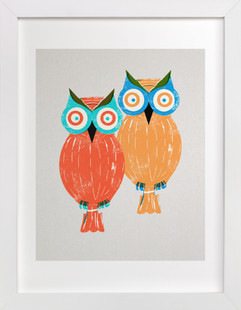 Two Owls Self-Launch Children's Art Print