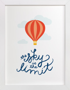 The Sky is the Limit Self-Launch Children's Art Print