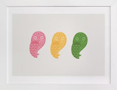Mod Owls Self-Launch Children's Art Print