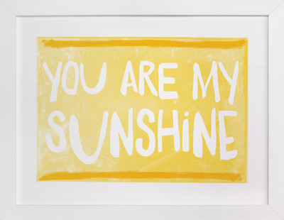 My Sunshine Love Self-Launch Children's Art Print