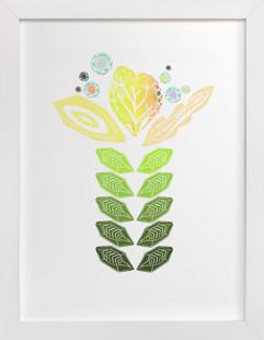 Tall Flower Self-Launch Children's Art Print