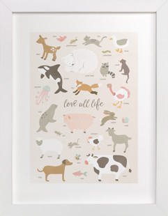 love all life Self-Launch Children's Art Print