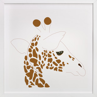 Hello Giraffe! Self-Launch Children's Art Print