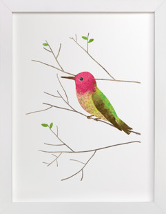 Anna's Hummingbird Self-Launch Children's Art Print