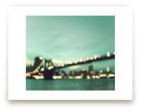 Brooklyn Bridge Lights by Caroline Mint